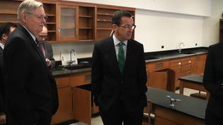 Governor Tours Potential Site for New Stamford School