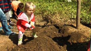 Preschoolers Plant a Tree to Celebrate Earth Day